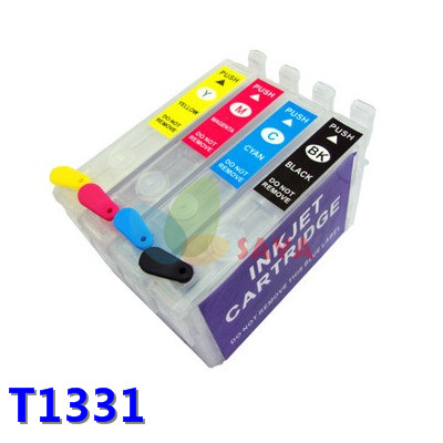 1SET Refillable ink cartridge T1332 FOR EPSON Stylus N11 NX125 NX420 TX420W Workfore 320 525 ink cartridge free shipping<br><br>Aliexpress
