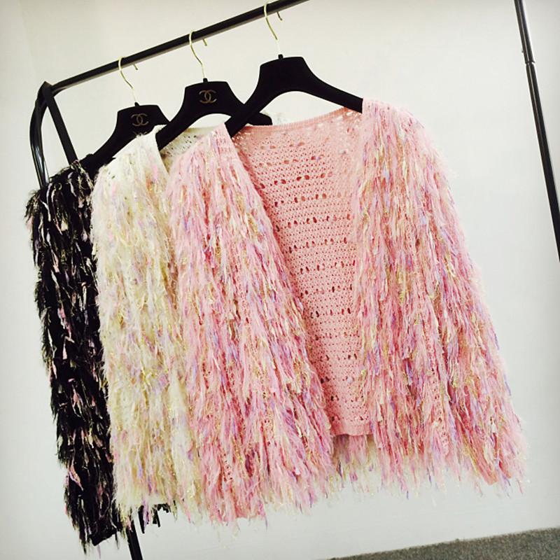 Fashion ladies tassel women designer cardigan sweater outerwear drop shop free shippment WS1458(China (Mainland))