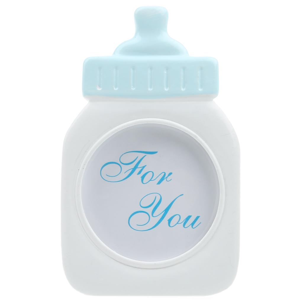 New Hot Blue/Pink Baby Bottle Shape Photo Frame Home Decor Baby Shower Gift Sweet Girl Wedding Party Favor Supply Birthday Gift(China (Mainland))