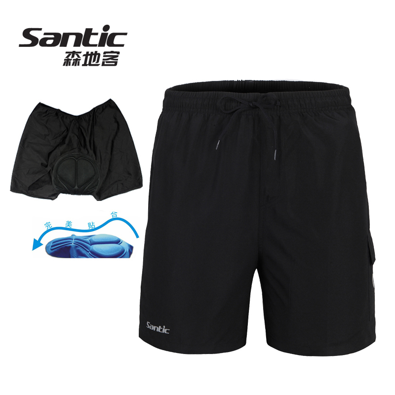 Santic Men`s Loose Fit Casual Cycling Shorts W/ Inner Padded Coolmax Underwear Bike Bicycle Bottoms Pantalones Cortos Ciclista(China (Mainland))