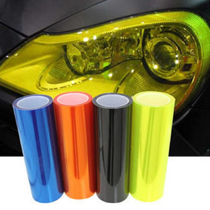 5 Colors 12*40 30cm*100cm Auto Car Lights Headlights Taillight Tint styling waterproof Vinyl Film Stickers #HA10435<br><br>Aliexpress