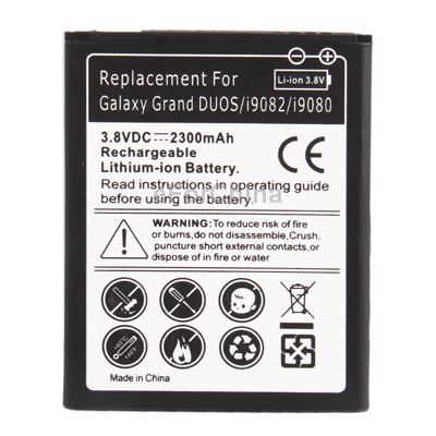 2300mAh Replacement Battery for Samsung Galaxy Grand DUOS i9082 i9080