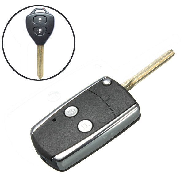 2015 New 2 Buttons Remote Uncut Flip Folding Key Shell Replacement For Toyota 01-05 RAV4(China (Mainland))