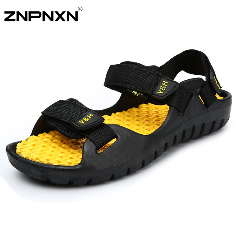 Гаджет  Men Sandals Fashion Men rubber Slippers Branded Loafers Men Shoes Breathable Summer Beach Shoes Loafers For Men Fast Shipping None Обувь