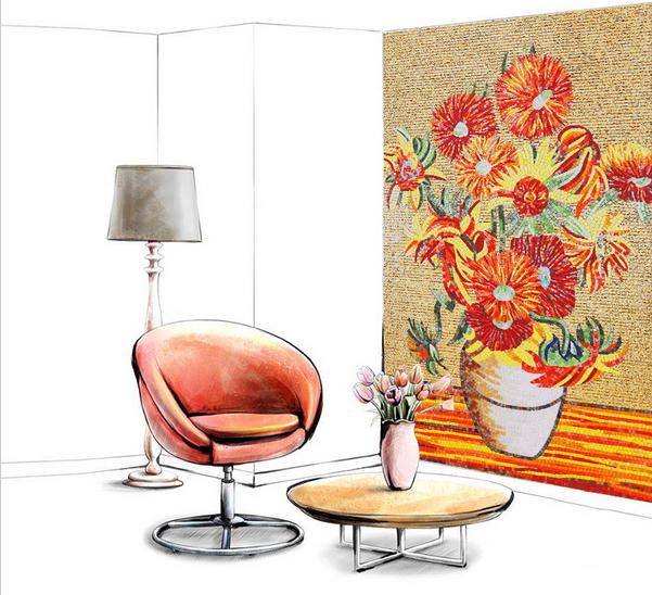 Us tile puzzles promotion achetez des us tile puzzles for Peinture mosaique