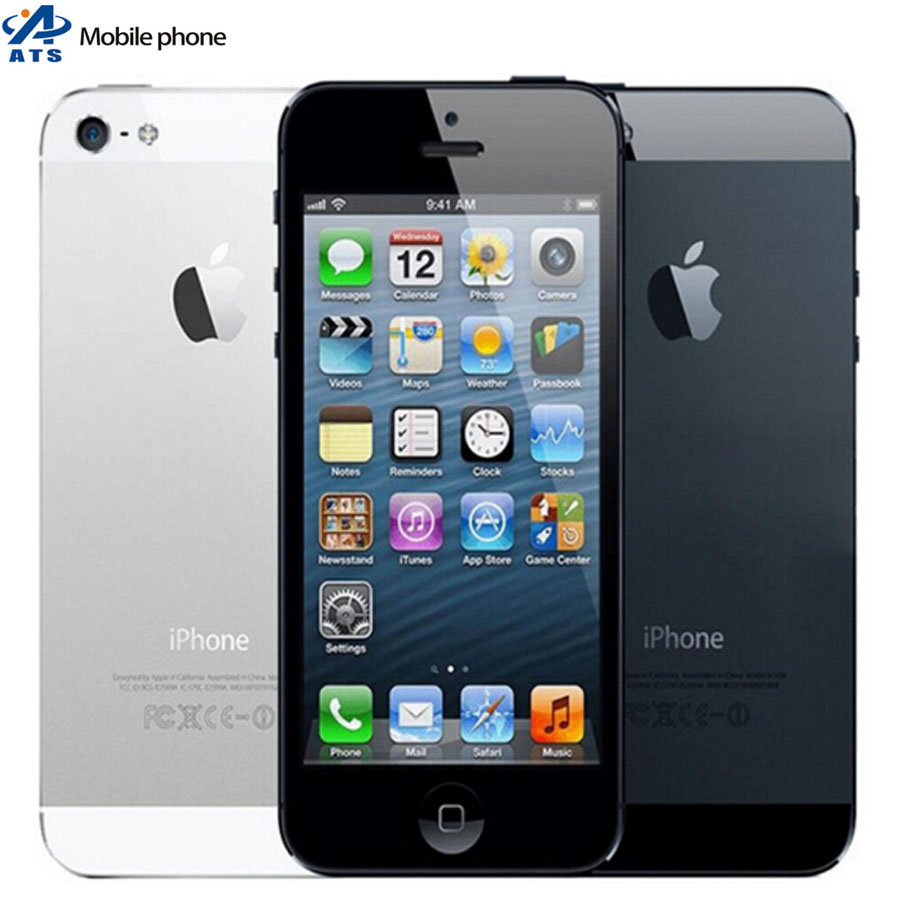 """Original Facotry Unlocked Apple iPhone 5 mobile phone Dual Core 16GB/32GB 8MP Camera 4.0 """" Screen WIFI GPS cell phone(China (Mainland))"""