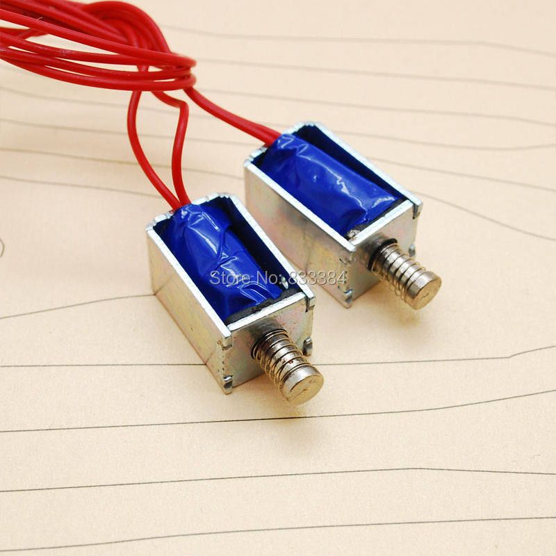 Гаджет  3V-12V DC 80mA-350mA Micro solenoid electromagnet push and pull dc Miniture electromagnet Mini Solenoid Electromagnet None Электронные компоненты и материалы