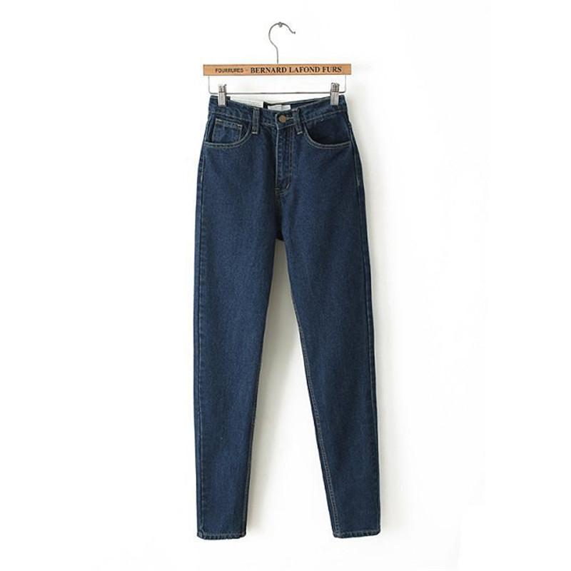 Фотография Vintage High Waist Jeans Woman Ladies Slim Denim Pants Boyfriend Jeans For Women Leggings Femme Long Trousers Harem Pants 023