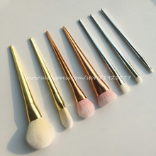 Brand New 2015 7Pcs Set  Professional Real Brush Techniques Bold Metals Collection Brushes set for Make Up pincel maquiagem