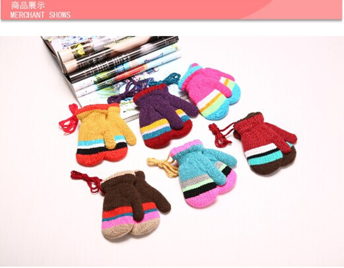 2015 Winter Children Boys Girls Sport Outdoor Ski Skiing Bicycle Cycling Warm Thermal Boys Kids Knitted Gloves Mittens JXY0020(China (Mainland))