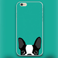 Boston Terrier dog in green Design case cover cell mobile phone cases for Apple iphone 4