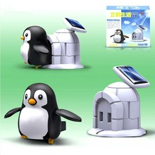2016 New Toys  solar toys children puzzle game solar penguin mini interaction gifts solar toys kids toys(China (Mainland))