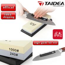 Taidea T6124W doubleside Sharpening Stone (240# / 1000#) whetstone Sharpening corundum whetstone sharpener system(China (Mainland))