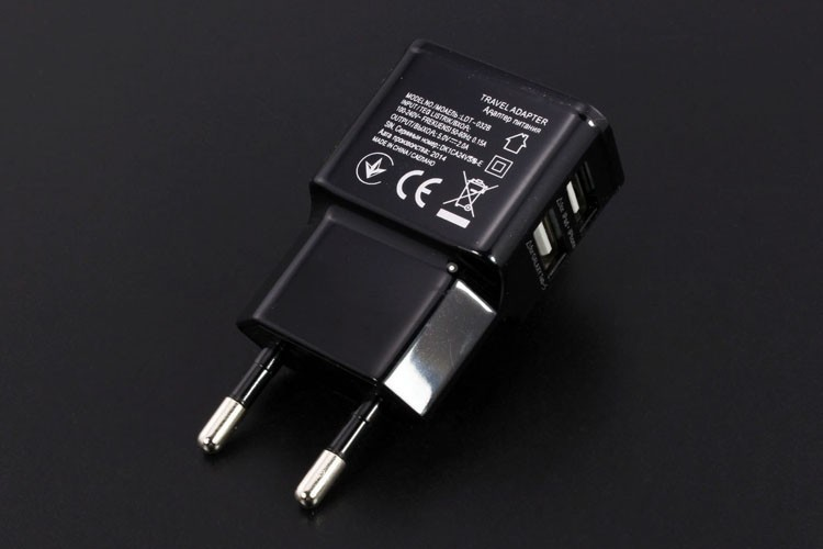 5V/ 2A Dual USB Wall Charger Adapter EU Plug 1 Pieces AC Power Charger 2 Port + 1pcs Micro USB Cable for Samsung Phone