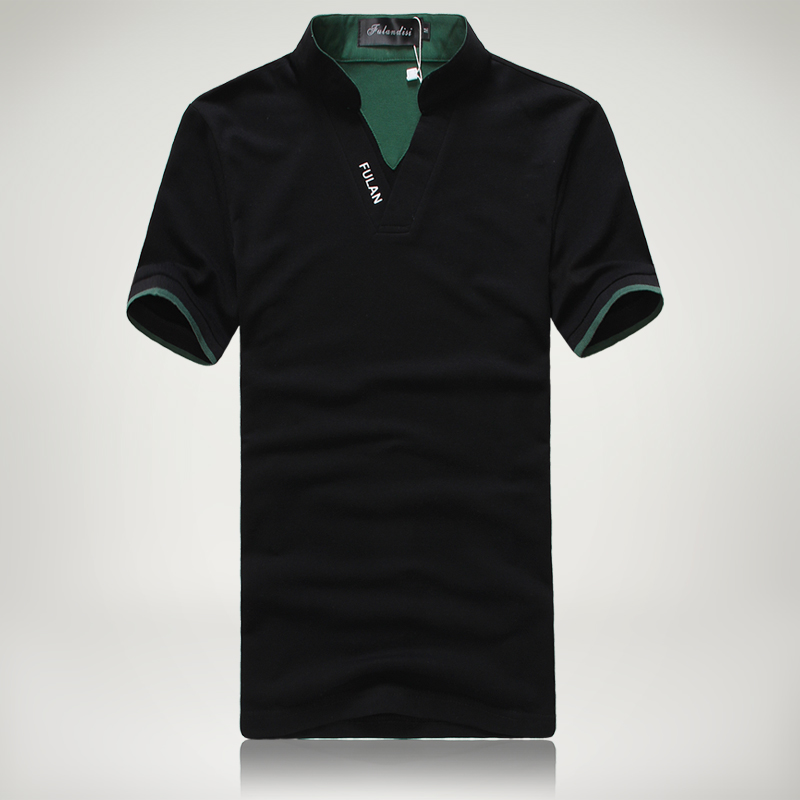 Plus size men polo shirt short sleeve embroidered letters for High quality embroidered polo shirts
