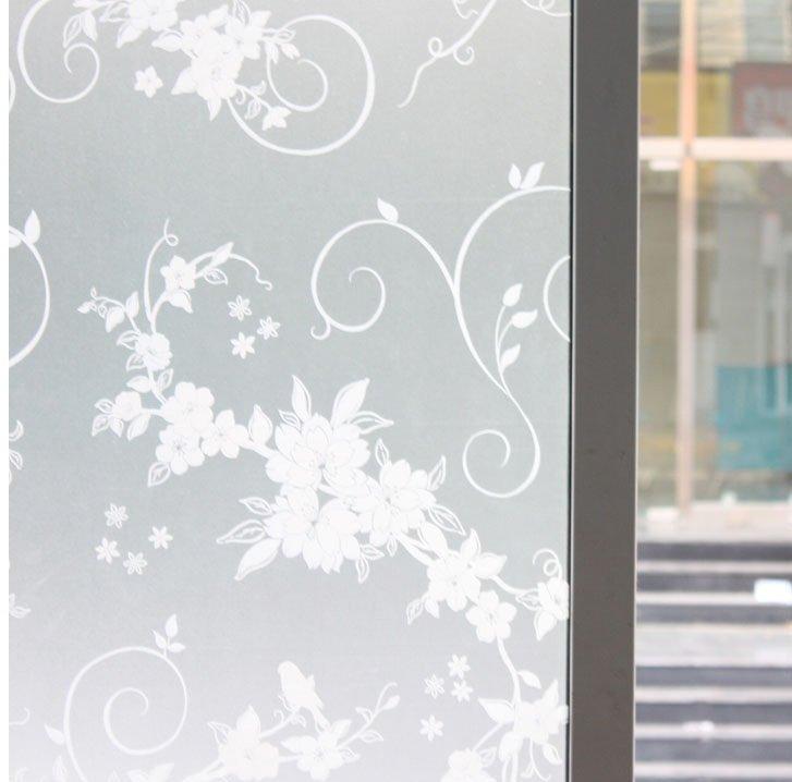 Sticker mural pour le verre fen tres salles de bain for Stickers fenetre opaque
