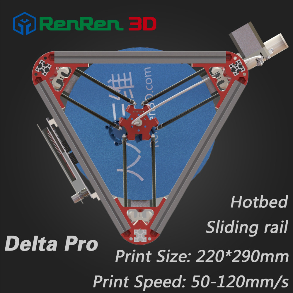 High Precision 3 D Delta 3D Printer Pro Auto Level K800 Kossel Reprap Prusa 3D Printer