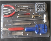 16-Piece Deluxe Watch Repair Tool Kit With Watchband Link Pin Remover, and More Tools. THY01(China (Mainland))