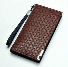 New Designer Men Pu Leather Long Wallets 4 Colors For Option Fashion Men's Wallet Hand Bag Men Free Shipping