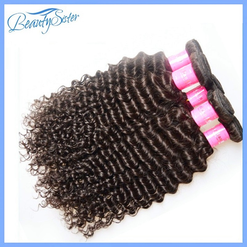 Mink Brazilian Curly Virgin Hair 4Pcs Brazilian Virgin Hair Deep Wave Vip Beauty Kinky Curly Virgin Hair Human Hair Weave Curly