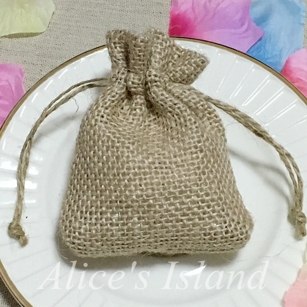10 pcs Natural Color Linen Jute Pouch Burlap bag Wedding Favor and Gift box Baby shower favor gift box Party Candy Box(China (Mainland))