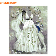 Buy CHENISTORY Dream Wedding DIY Painting Numbers Room Decor Handpainted Canvas Paintings Living Room Wall Art Picture for $8.75 in AliExpress store