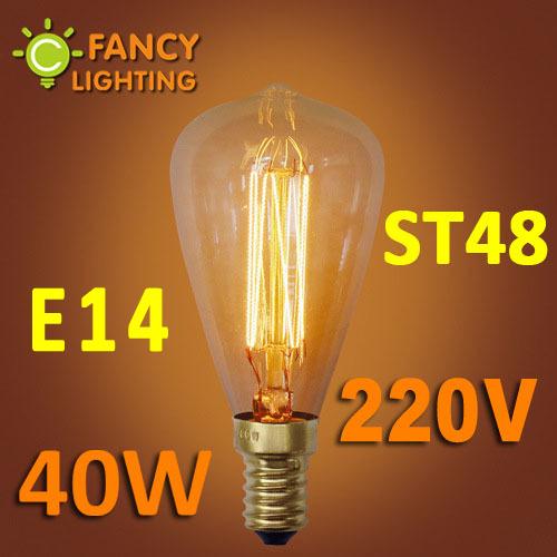 Гаджет  Vintage Edison bulb ST48 incandescent light bulb E14 220V decorative light bulb for indoor pendant/ceiling/table lamp decoration None Свет и освещение