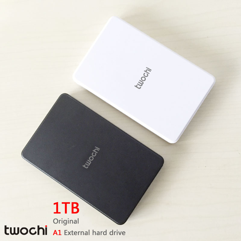 Free shipping 2016 New Style 2.5 inch Twochi A1 USB2.0 HDD 1TB Slim External hard drive Portable Storage disk wholesale Price<br><br>Aliexpress