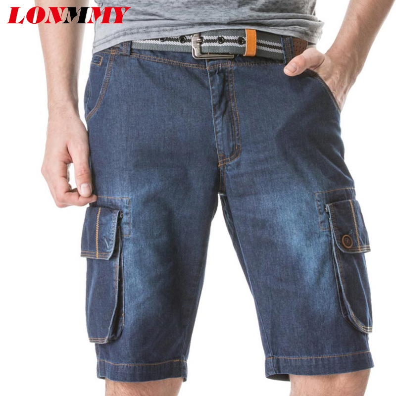 Jeans shorts men Cotton Multi-pocket Military style men joggers Casual Sport Board shorts men Beach shorts Denim Summer 2016 New(China (Mainland))