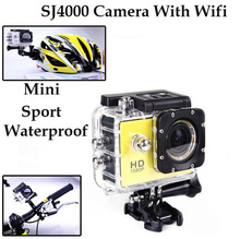 10pcs 1920 1080P Sport Mini SJ4000 Full HD DVR 30M Waterproof Diving Extreme Sport Helmet Action