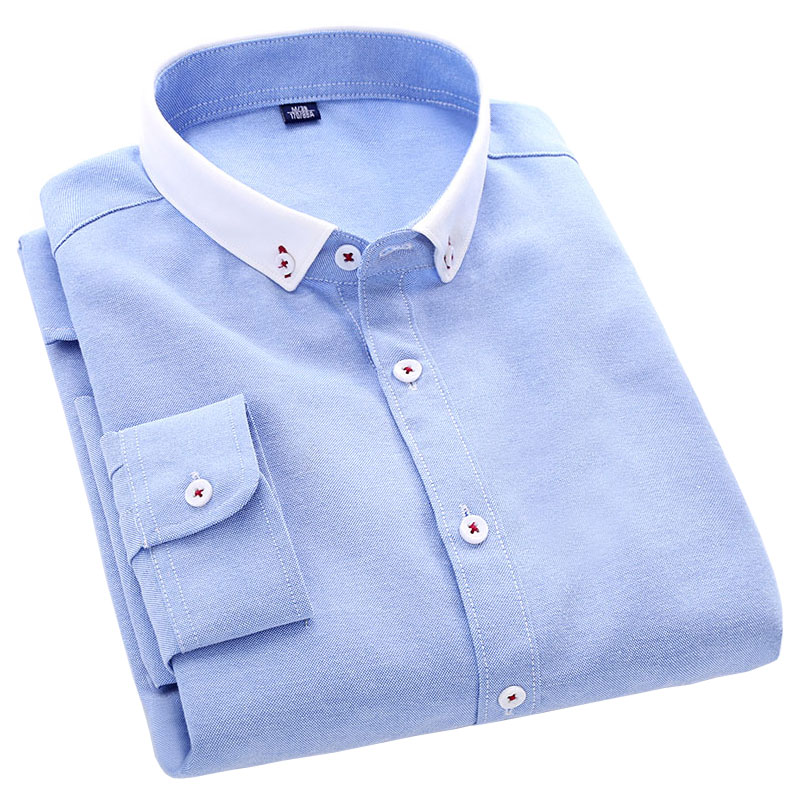 2016 Summer New Cotton High Quality Men Casual Shirts Splice Washed Long Sleeve Men Oxford Dress Shirts Large Size Male Clothing(China (Mainland))