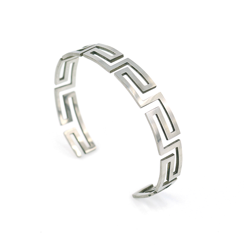 Hot Men Women Stainless steel Titanium Lucky Clouds Engraveing Lovers bracelets & bangles Jewelry(China (Mainland))