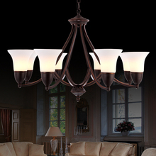 free shipping American style pendant light 8 lamps restaurant lamp iron fashion brief vintage quality bedroom lamps(China (Mainland))