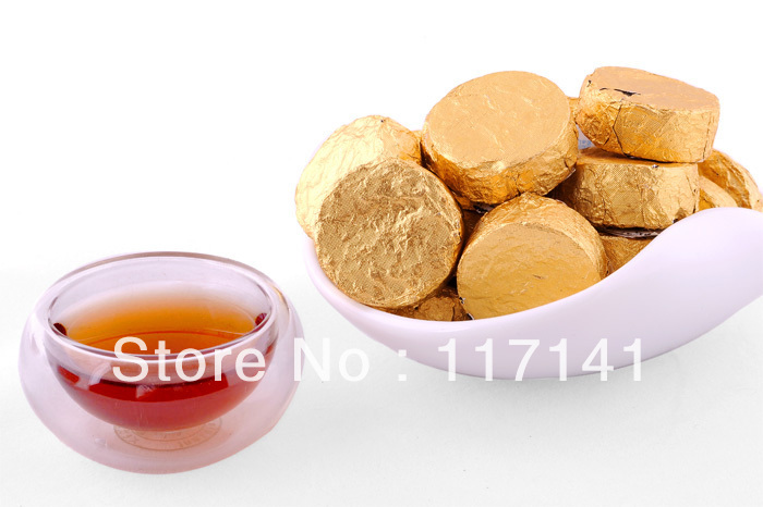 100 pcs Original GoldCoin puerh tea Ripe Pu er tuo cha PT16 Free Shipping