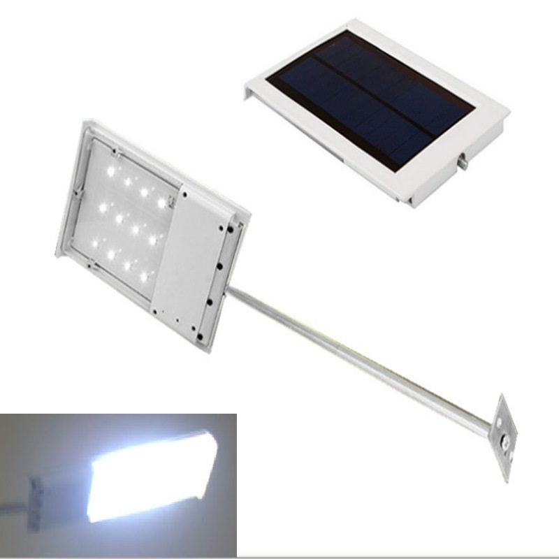 10pcs/lot Outdoor Lighting 12 LED Solar street Light Garden Pathway Wall Lamp LED Spotlights Solar Powered Panel Street Light(China (Mainland))