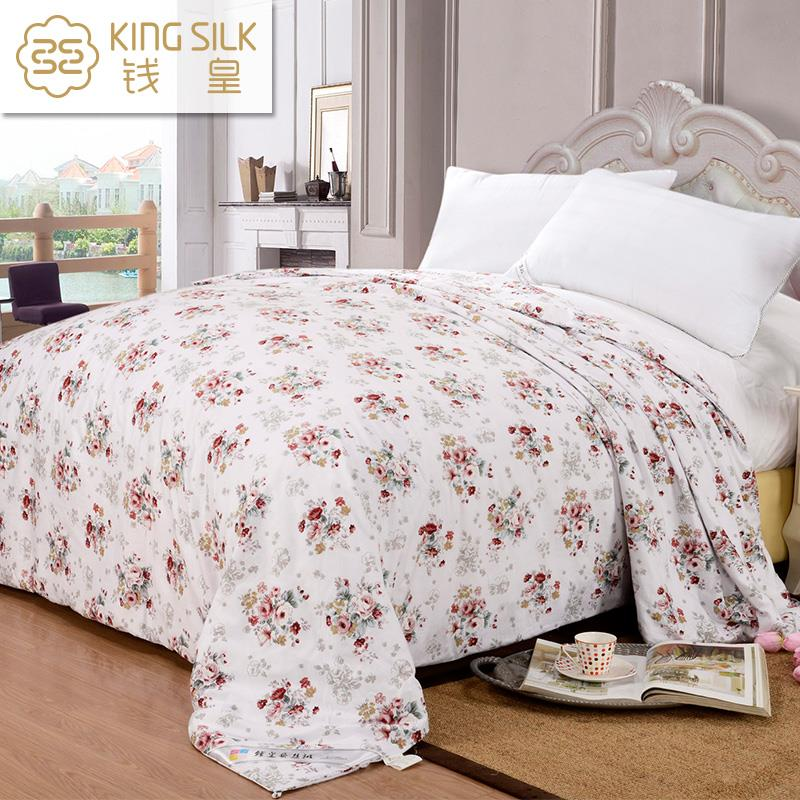 Home Textile Four Seasons New 100% Cotton Bed Cover Floral Printed Washable Soft Comforter Silk Blanket MBHH(China (Mainland))