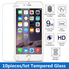 10pcs/lot 9H 0.3 mm 2.5d Premium Tempered Glass Screen Protector for iPhone SE 4s 5 5s 5c 6 6s 6 plus Toughened protective film