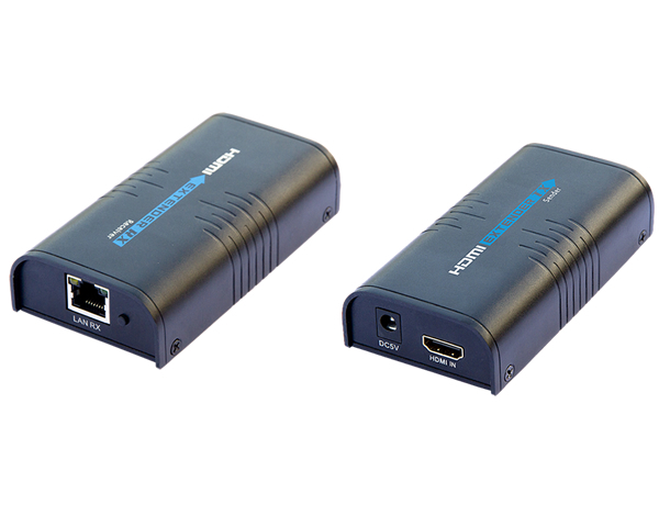 HDMI Over RJ45 CAT5e CAT6 UTP LAN Ethernet Balun Extender Over Lan Emitter+Receiver Support 3D 1080P Model:LKV373(China (Mainland))