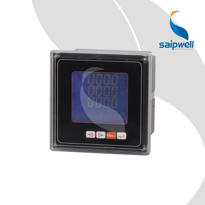 96 Type Three Phase Electric Multifunction Power Meter,LCD Digital Energy Meter 96*96*80 SP-96YE(China (Mainland))