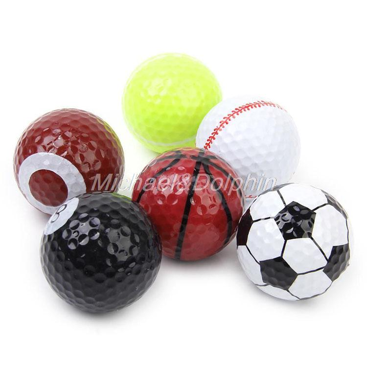 Free Shipping 1Set 6Pcs Novelty Assorted Sports Golf Balls(China (Mainland))