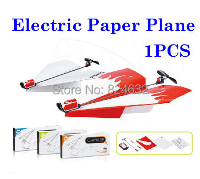 New Electric paper plane flying plane toy power up paper airplane toys for childrenboys toys 1pcs(China (Mainland))