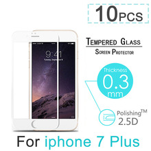 10pcs/lot Full Cover Explosion Proof Premium Tempered Glass Screen Protector For iPhone 7 4.7″ 7 Plus 5.5″ Case Screen Guard