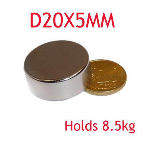 5PCS D20X5MM Craft Model Super Powerful Strong Rare Earth Disc NdFeB Magnet Neo Neodymium N35 Magnets 20 x 5 m D20X5MM D20*5MM<br><br>Aliexpress