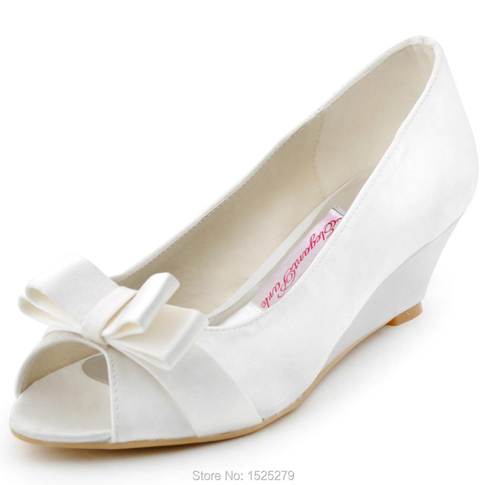 big sale wp1402 ivory white peep toe bridal
