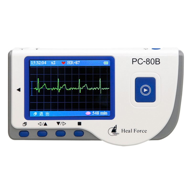 Heal Force PC-80B CE Handheld ECG EKG Portable  Heart EKG Health Monitor price of ECG machine with Continuous Measuring Function<br><br>Aliexpress