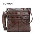FONMOR Vintage Mini Bags Men Cowhide Leather Shoulder Crossbody Bag phone cigarette Leisure bag