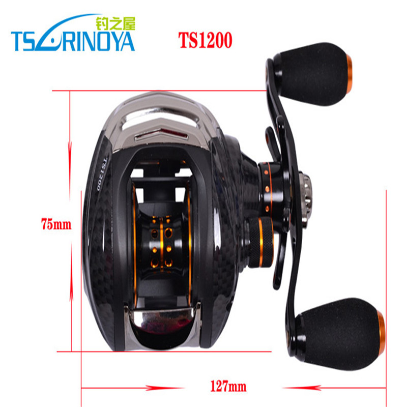 High Quality TS1200 Trulinoya Right Side Hand Bait Casting Foldable Handle Fishing Reel Ball Spinning Reel Bearings For Fishing(China (Mainland))