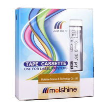 Buy Molshine 5pcs MK221 Compatible Label Tape Brother M-K221 M-221 M221 Black White (0.35inch 3/8inch 9mm) 8m for $18.62 in AliExpress store