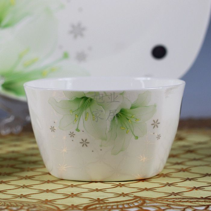 Buy YH Jingdezhen ceramic 56PCS/LOT quality porcelain tableware at home gift plate bowl dish spoon gift box set cheap