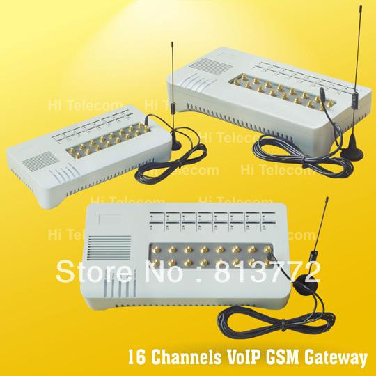 Hot selling 16 Port GSM Gateway \ voip ip skype phone gateway(China (Mainland))